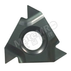 京瓷 内螺纹刀片(锥度管55°) 11IR14BSPT-TQ PR1215 刀具材质:硬质合金 适宜加工材料:碳钢/合金钢 材质编码:PR1215 螺距(牙数):14  盒