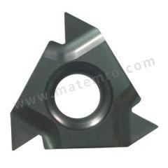 京瓷 内螺纹刀片(锥度管55°) 16IR11BSPT GW15 刀具材质:硬质合金 材质编码:GW15 适宜加工材料:铸铁/有色金属 螺距(牙数):11  盒