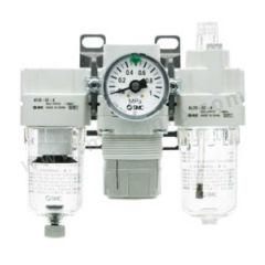 SMC AC系列空气组合三联件 AC40-03G-A 附件类型:无 是否有压力表:是 接口:Rc3/8  个