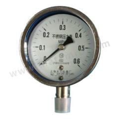 天川 304不锈钢压力表(径向不带边) Y150/-0.1-0MPA/G1/2 安装方式:径向不带边 材质:304不锈钢 精度:1.6级 量程:-0.1-0MPA  个