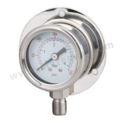 天川 普通不锈钢压力表(径向带后边) Y150/-0.1-0MPA/G1/2 安装方式:径向带后边 精度:1.6级 材质:普通不锈钢 量程:-0.1-0MPA  个