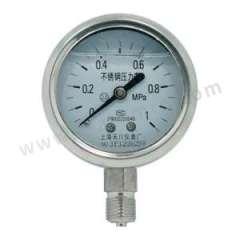 天川 304不锈钢耐震压力表(径向不带边) Y40/0-1MPA/G1/8 安装方式:径向不带边 材质:304不锈钢 精度:1.6级 量程:0-1MPA  个