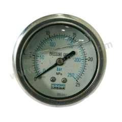 天川 304不锈钢耐震压力表(轴向不带边) Y60/-0.1-0.5MPA/G1/4 材质:304不锈钢 精度:2.5级 安装方式:轴向不带边 量程:-0.1-0.5MPA  个
