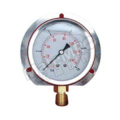 天川 普通不锈钢耐震压力表(径向带后边) Y60/0-40MPA/G1/4 安装方式:径向带后边 精度:2.5级 材质:普通不锈钢 量程:0-40MPA  个