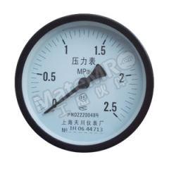 天川 铁壳压力表(轴向不带边) Y40/0-1.6MPA/G1/8 精度:2.5级 安装方式:轴向不带边 材质:铁壳 量程:0-1.6MPA  个