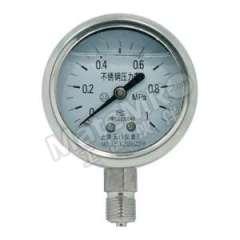 天川 304不锈钢耐震压力表(径向不带边) Y40/0-0.1MPA/G1/8 安装方式:径向不带边 材质:304不锈钢 精度:1.6级 量程:0-0.1MPA  个