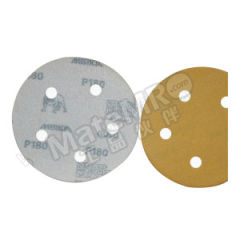 磨卡 MIRKA金牌背胶砂碟 MIRKA-J-5I6H-180 材质:氧化铝 最小起订量:1 孔数:6孔 包装数量:100片/盒 粒度:180#  盒