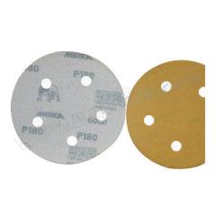 磨卡 MIRKA金牌背胶砂碟 MIRKA-J-2I0H-240 材质:氧化铝 最小起订量:1 粒度:240# 孔数:无 包装数量:1000片/盒  盒