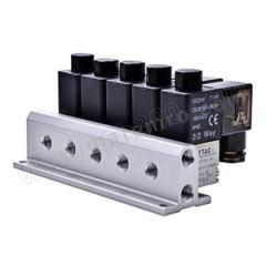 亚德客 3V2M系列电磁阀 3V2MNOA-3F 阀联数:3 接口:Rc1/8  套