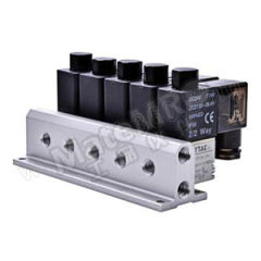 亚德客 3V2M系列电磁阀 3V2MNOF-10F 接口:Rc1/8 阀联数:10  套