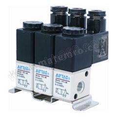 亚德客 3V1系列电磁阀 3V106F2F 阀联数:2 接口:Rc1/8  套
