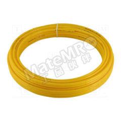 SMC T系列尼龙管 T0604Y-20 材质:PA 长度:20m 内径:4mm 颜色:黄色  卷