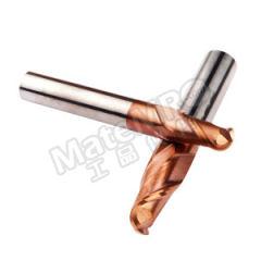 耐高酷乐 两刃球头标准长整体硬质合金钢用铣刀 E235 030 F1 20 050 B L 刃数:2 柄径:4mm 有效刃长:6mm  支