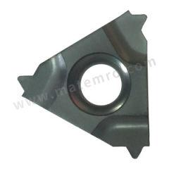 京瓷 外螺纹刀片(公制60°) 16ER050ISO TC60M 刀具材质:陶瓷 螺距(牙数):0.5mm 适宜加工材料:碳钢/不锈钢 材质编码:TC60M  盒