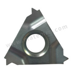京瓷 内螺纹刀片(公制60°) 16IL150ISO PR1115 刀具材质:硬质合金 适宜加工材料:碳钢/不锈钢/合金钢 材质编码:PR1115 螺距(牙数):1.5mm  盒