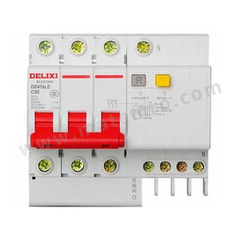 德力西 DZ47sLE小型漏电保护断路器 DZ47sLE 3P D 63A 分断能力:6KA 额定电压:AC400V 额定电流:63A  个