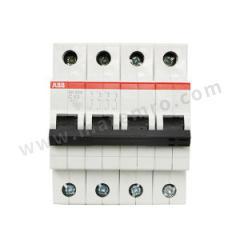 ABB SH200系列微型断路器 SH204-D32 脱扣类型:D 极数:4P 额定电压:AC230V/400V 额定电流:32A  个