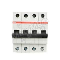 ABB SH200系列微型断路器 SH204-B63 脱扣类型:B 极数:4P 额定电压:AC230V/400V 额定电流:63A  个
