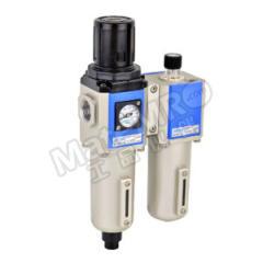 亚德客 GFC系列金属杯二联件 GFC300C15LF1K 是否有压力表:是 排水方式:差压排水式 附件类型:附支架+逆流阀 压力范围:0.15~0.9MPa 接口:Rc1/2  套