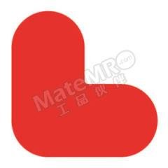 安赛瑞 耐磨型5S管理地贴(红色L型) 15788 材质:超强耐磨地贴材料  包