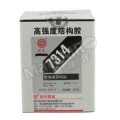 回天 高强度结构胶 7314 固化方式:室温固化 流动性:膏状 组份:双组份 颜色:白色  套