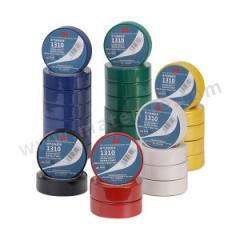 3J PVC电气绝缘胶带 1310 温度等级:80℃ 厚度:0.13mm 长度:10m 击穿电压:600V 宽度:18mm  筒