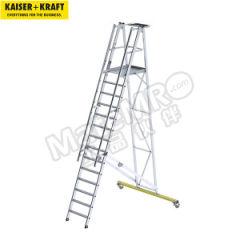 皇加力 铝制移动折叠式安全踏板梯 944263 平台尺寸长×宽:650×600mm  个