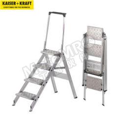皇加力 铝制折叠式踏板梯 772232  个