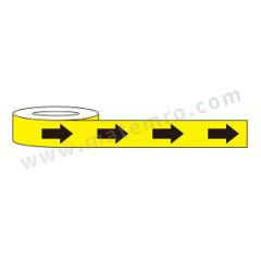 安赛瑞 警示标识胶带(黄底黑箭头) 11991  卷