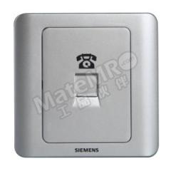 西门子 远景Vista一位电话插座RJ11 5TG01201CC122 颜色:彩银色  个