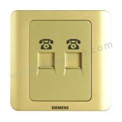 西门子 远景Vista二位电话插座RJ11 5TG01221CC133 颜色:金棕色  个