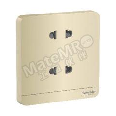 施耐德电气 AvatarOn绎尚系列10A250V双联带保护门二极扁圆脚插座 E83426U2_WG_C1 额定电压:AC250V  个