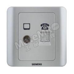 西门子 远景Vista二位电视电话插座 5TG01141CC122 颜色:彩银色  个
