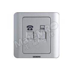 西门子 远景Vista二位电脑电话插座(超5类) 5TG01251CC122 颜色:彩银色  个