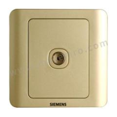 西门子 远景Vista一位电视插座 5TG01111CC133 颜色:金棕色  个