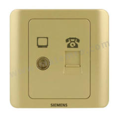 西门子 远景Vista二位电视电话插座 5TG01141CC133 颜色:金棕色  个