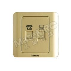 西门子 远景Vista二位电脑电话插座(超5类) 5TG01251CC133 颜色:金棕色  个