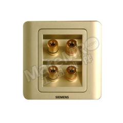 西门子 远景Vista四接线柱音响插座 5TG01181CC133 颜色:金棕色  个