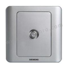 西门子 远景Vista一位宽频电视插座 5TG01151CC122 颜色:彩银色  个