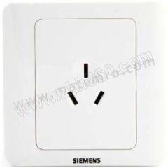 西门子 西门子远景雅白面板插座 5UB0 100-1CC1 额定电流:10A 额定电压:AC250V 颜色:雅白色  个