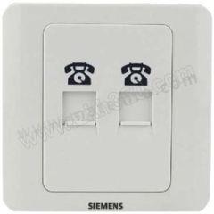 西门子 西门子远景雅白面板插座 5TG0 122-1CC1 额定电流:10A 颜色:雅白色  个