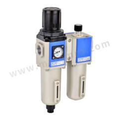 亚德客 GFC系列金属杯二联件 GFC300C10MLF1 是否有压力表:是 附件类型:附支架 排水方式:手动排水式 压力范围:0.05~0.9MPa 接口:Rc3/8  套