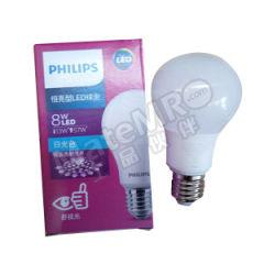 飞利浦 LED球泡(恒亮型) 8W A60 E27 830 色温:3000K 光通量:750lm  个