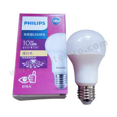 飞利浦 LED球泡(恒亮型) 10W A60 E27 865 色温:6500K 光通量:1000lm  个