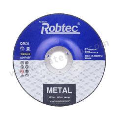 ROBTEC T27黑色双网金属角磨片 125×6×22 厚度:6mm 最小起订量:100 包装数量:100片/箱 孔径:22mm  片