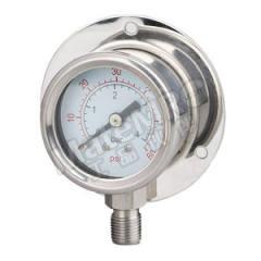 天川 304不锈钢压力表(径向带后边) Y150/0-6MPA/G1/2 材质:304不锈钢 安装方式:径向带后边 精度:1.6级 量程:0-6MPA  个