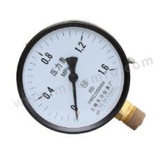 天川 铁壳压力表(径向不带边) Y200/0-100MPA/G1/2 安装方式:径向不带边 精度:1.6级 材质:铁壳 量程:0-100MPA  个