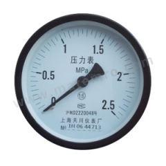 天川 铁壳压力表(轴向不带边) Y60/0-0.06MPA/G1/4 精度:2.5级 安装方式:轴向不带边 材质:铁壳 量程:0-0.06MPA  个