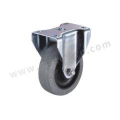 科顺 2系列5寸平顶定向平边导电轮 2-5608-445C 底板(插杆)规格:92×64mm 脚轮材质:导电材料 安装高度:157mm  个