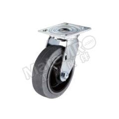 科顺 4系列5寸平顶万向导电轮 4-5109-459C 脚轮材质:导电材料 底板(插杆)规格:114×102mm 安装高度:165mm  个